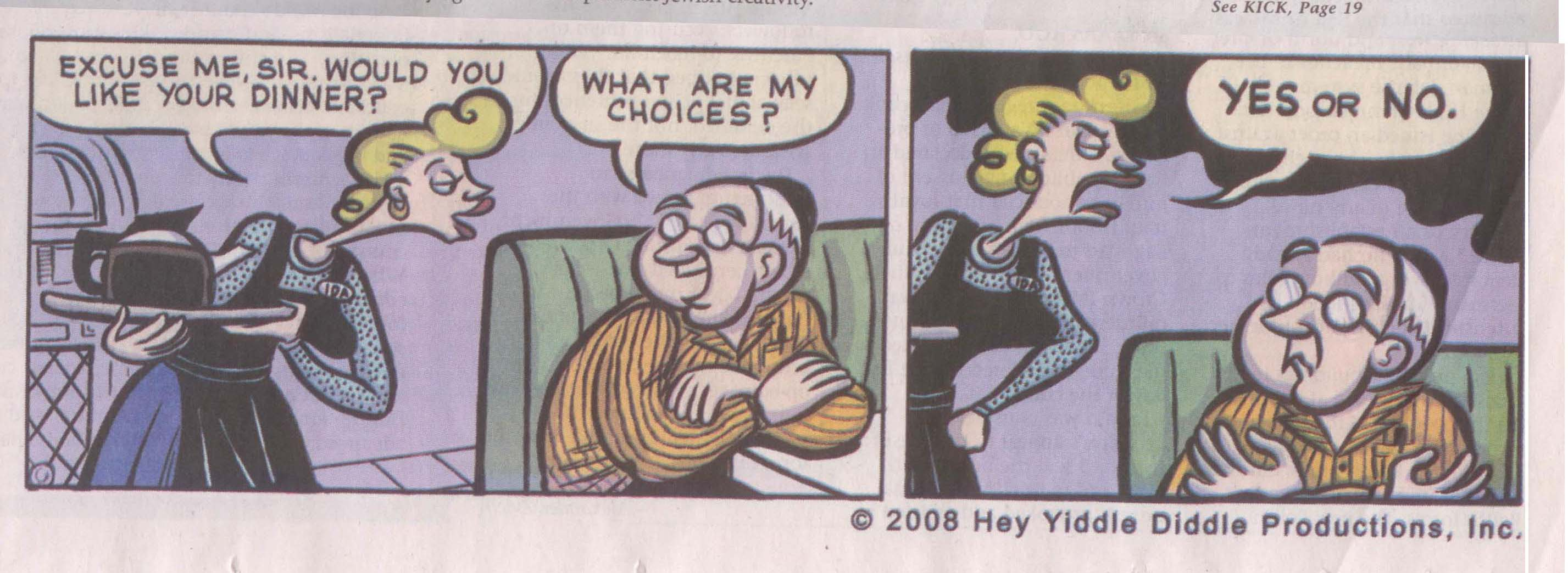 A Yearly Shpritz of Jewish Bits comic strip featured in the Jerusalem Post!