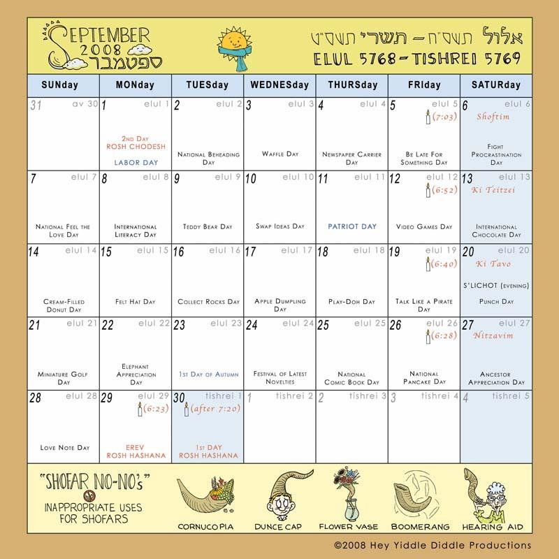 September 2008 Calendar from \